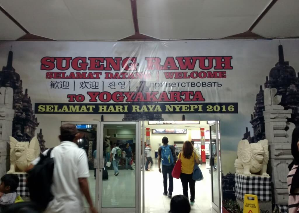 Arriving at Jogjakarta Airport