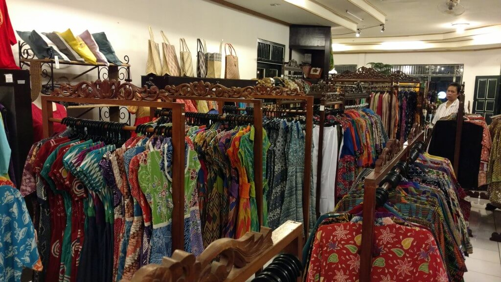A typical batik shop