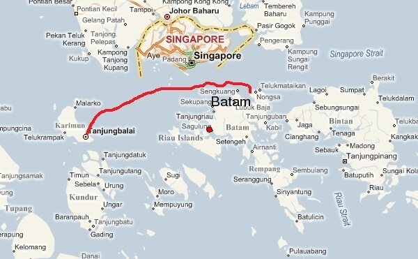 Ferry Trip To The Island Of Tanjung Balai Karimun The